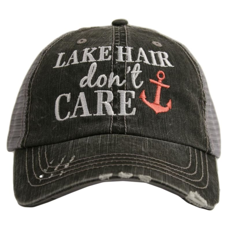 Lake Hair Dont Care Anchor Hat - Coral - Hats