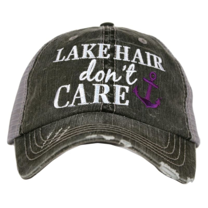 Lake Hair Dont Care Anchor Hat - Purple - Hats