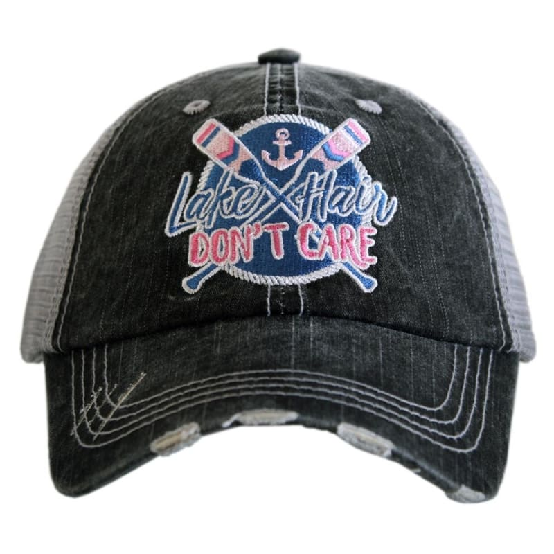 Lake Hair Dont Care Oar Patch Hat - Blue - Hats