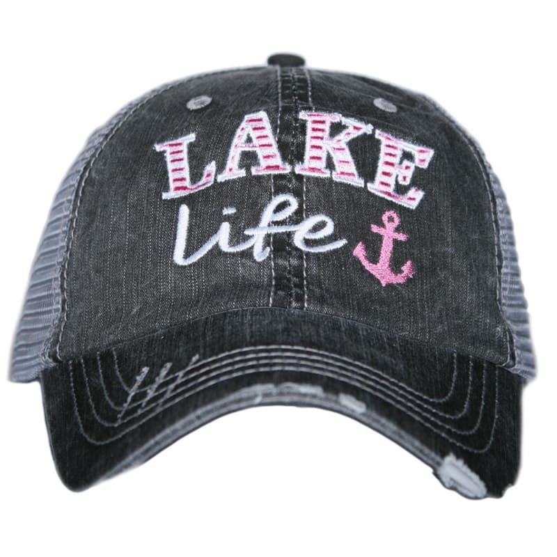 Lake Life Anchor Hat - Hot Pink - Hats