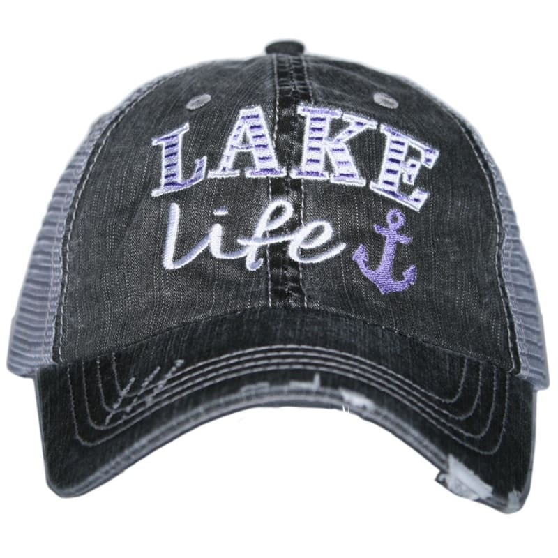 Lake Life Anchor Hat - Purple - Hats