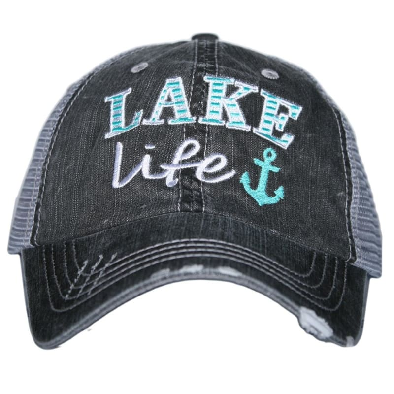 Lake Life Anchor Hat - Teal - Hats