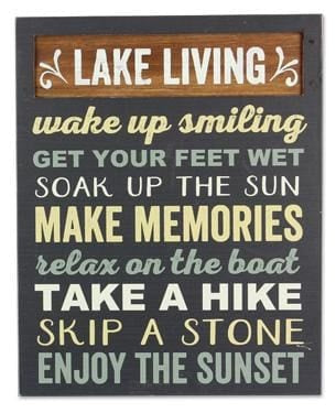 Lake Living.....box Sign (9.50 X 1.50 X 11.75) - (9.50 X 1.50 X 11.75) - Box Sign