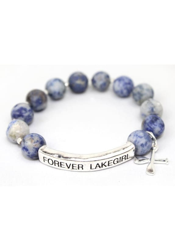 Lakegirl Blue Stone Bar Bracelet - Default / Blue - Jewelry