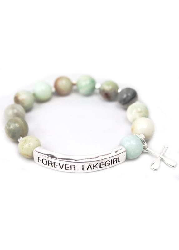 Lakegirl Blue Stone Bar Bracelet - Default / Surf - Jewelry