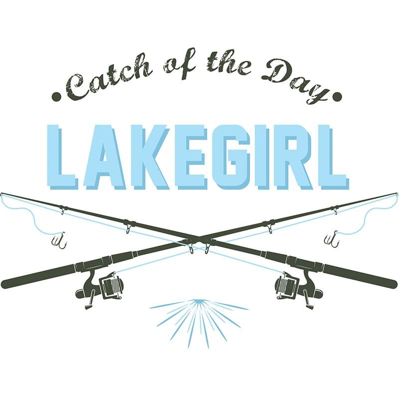 Lakegirl Catch Of The Day Tee - M / White - Apparel