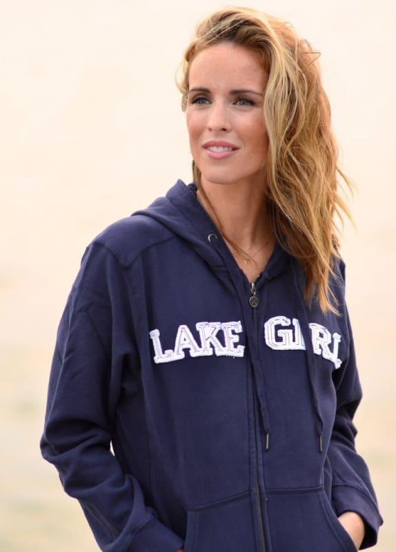 Lakegirl Classic Full Zip Hoodie Sweatshirt - Apparel