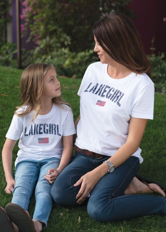Lakegirl Relaxed Flag Youth Tee - S - Apparel