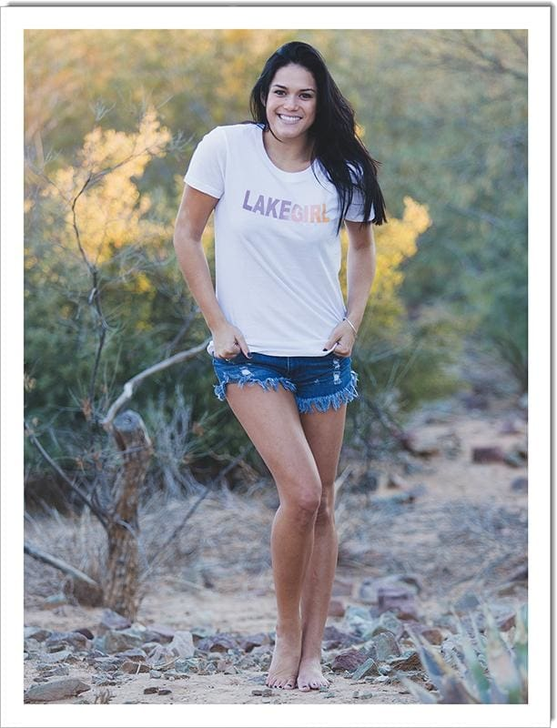 Lakegirl Relaxed Spectrum Crew Tee Shirt - Small - Apparel