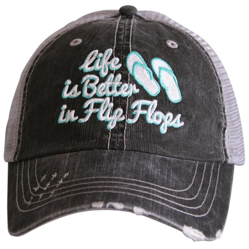Life Is Better In Flip Flops Hat - Mint - Hats