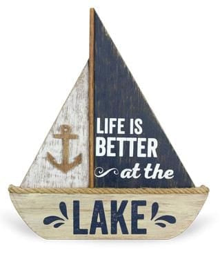 Life Is Better.....sailboat Wood Sign - Default - Wood Sign