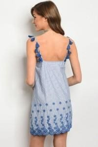 Light Denim Stripes Dress - Apparel
