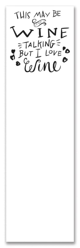 List Notepad - Winetalking - Stationary