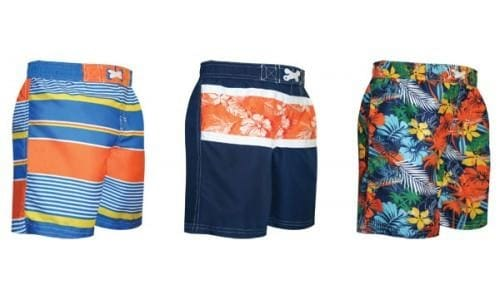 Little Boys Swim Trunks By Rugged Bear - Swimwear