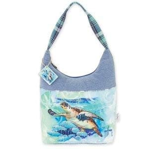 Live Blue Turtle Medium Hobo - Hand Bag