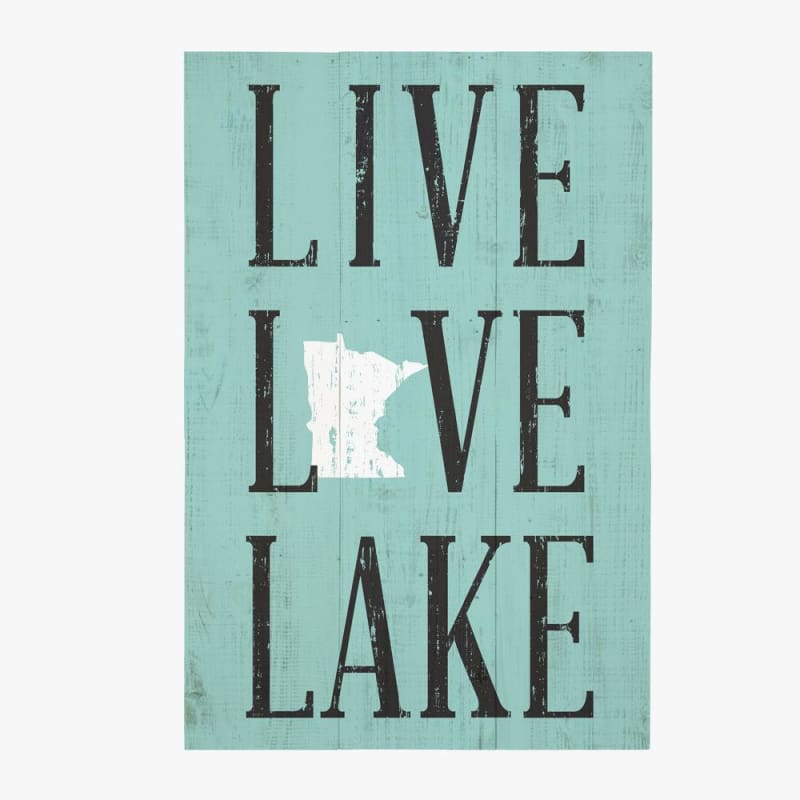 Live Love Lake Wood Sign - 10.5X16 - Wood Signs