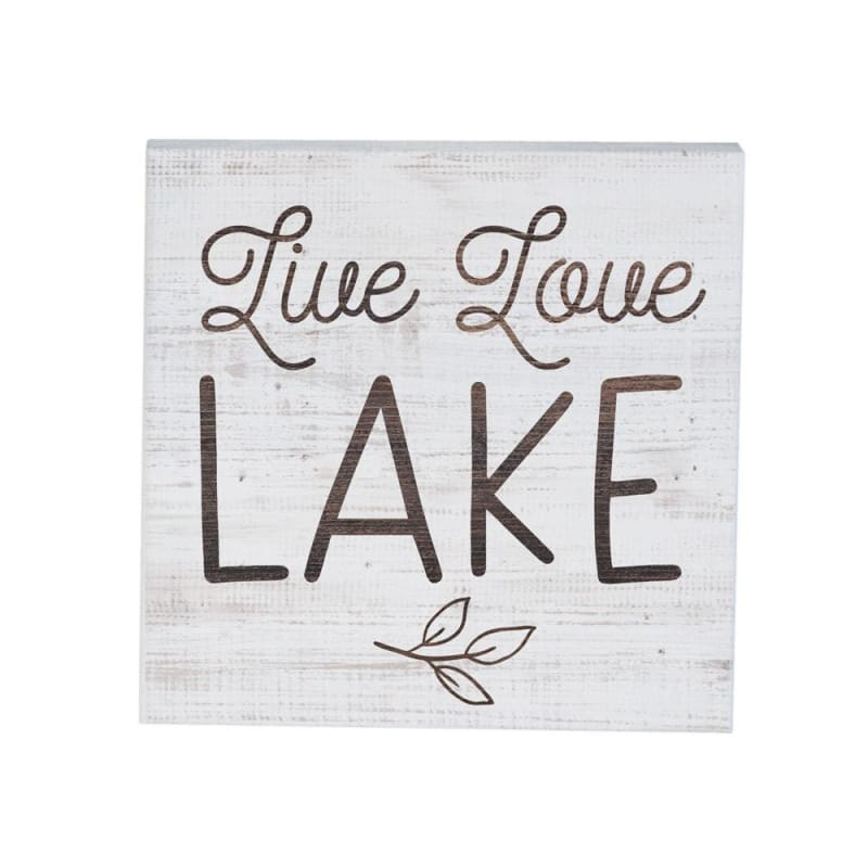 Live Love Lake Wood Sign - 5.25X5.25 - Wood Signs