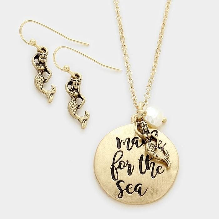 Made For The Sea Pendant Necklace - Gold - Jewelry