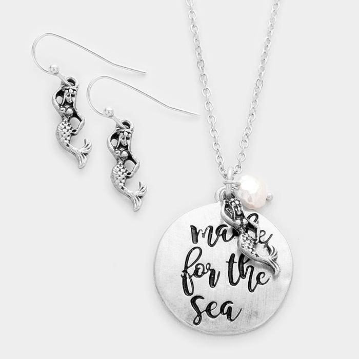 Made For The Sea Pendant Necklace - Silver - Jewelry