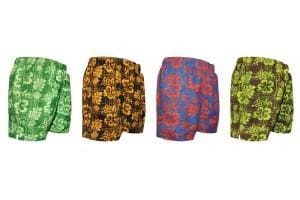 Mens Shorter Length Swim Trunks - Swimwear