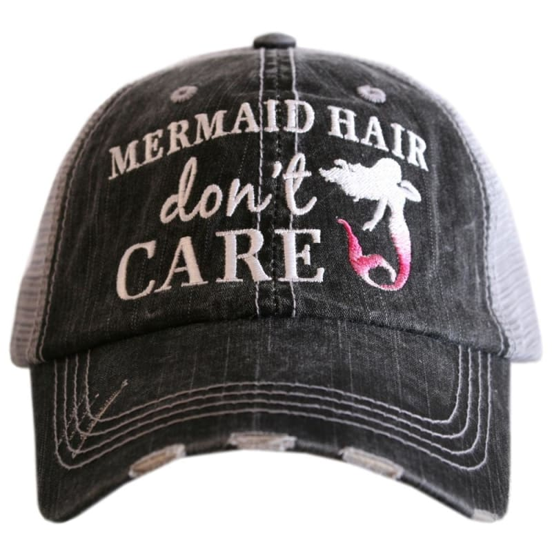 Mermaid Hair Dont Care Hat - Hot Pink - Hats