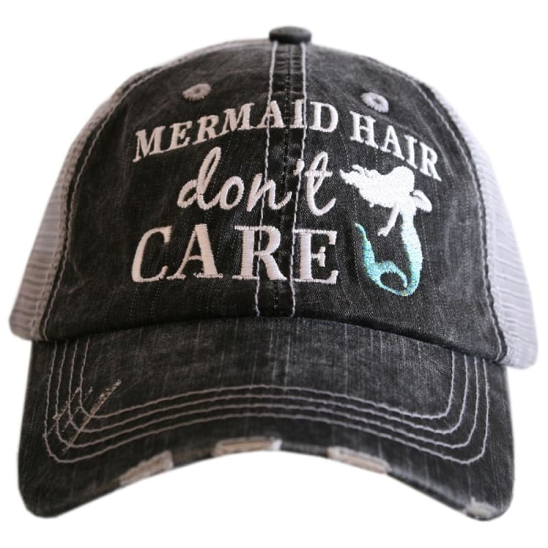 Mermaid Hair Dont Care Hat - Teal - Hats