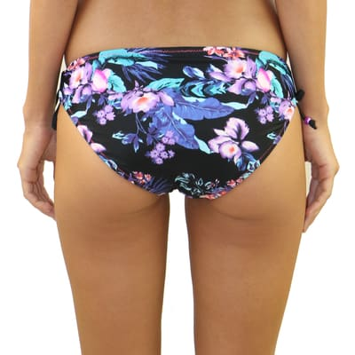 Midnight Fleur Criss-Cross Tie Side Bottom - Swimwear