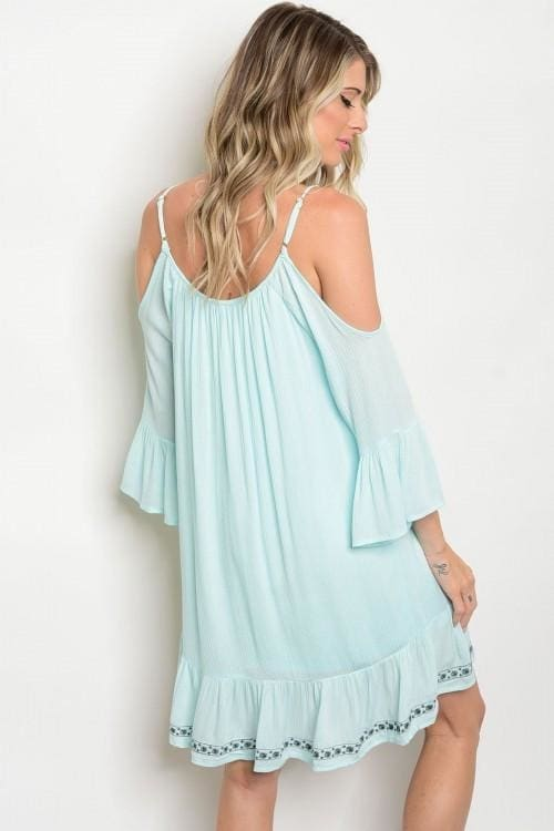 Mint Teal Dress - Apparel