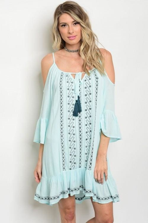 Mint Teal Dress - Large - Apparel