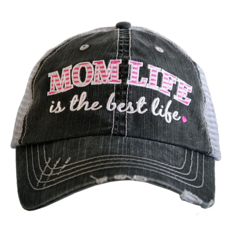 Mom Life Is The Best Life Hat - Hot Pink - Hats