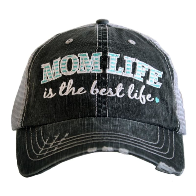 Mom Life Is The Best Life Hat - Teal - Hats