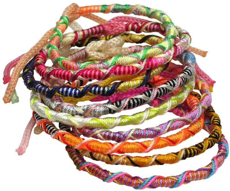 Peruvian Twist String Friendship Bracelet - Jewelry