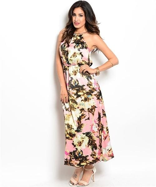 Pink Black Yellow Dress - Small - Apparel