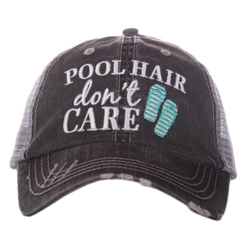 Pool Hair Dont Care Flip Flop Hat - Teal - Hats