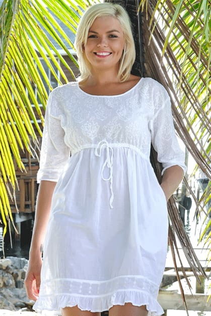Sea Fan Dress - White / S - Apparel