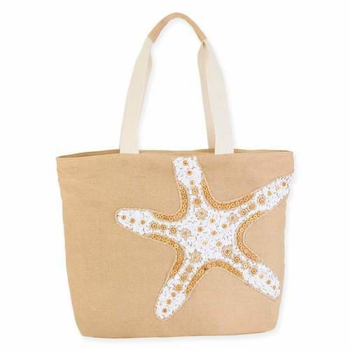 Sea Star Shoulder Tote - Natural - Hand Bags