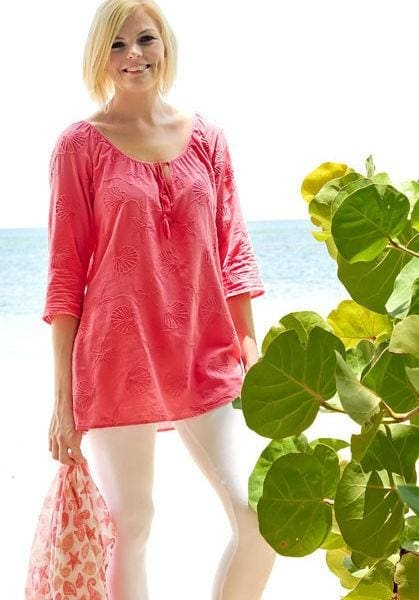 Sea Treasure Tunic - Coral / S - Apparel