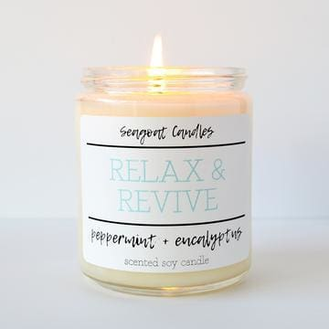 Seagoat Candles - Relax & Revive - Peppermint + Eucalyptus