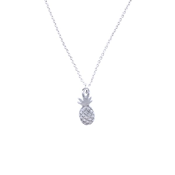 Small Pineapple Necklace - Silver - Jewelry