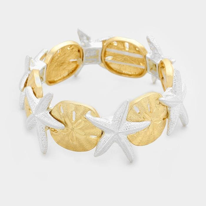 Starfish & Sand Dollar Stretch Bracelet - Multi - Jewelry