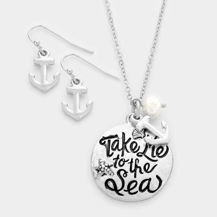 Take Me To The Sea Pendant Necklace - Silver - Jewelry