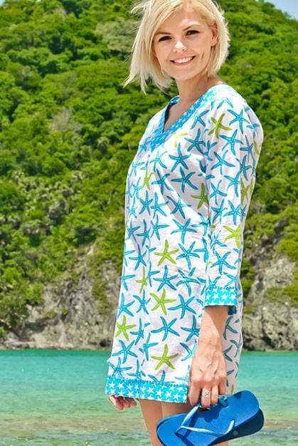 Tide Pool Tunic - Aqua - Large / Aqua - Apparel