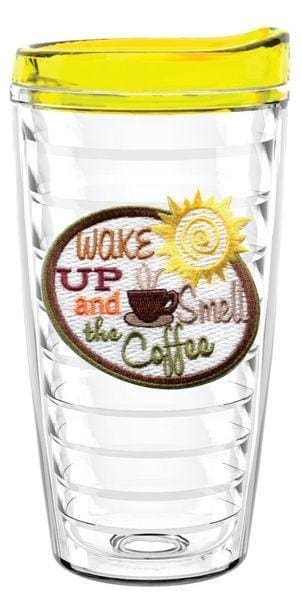 Wake Up And Smell The Coffee 16Oz Tumbler With Lid - Barware