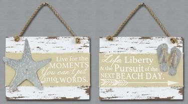 Wood Beach Wall Signs - Starfish - Sign