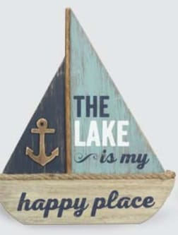 Wood Sailboat Table Sign - 9.x11.75 - Wood Sign