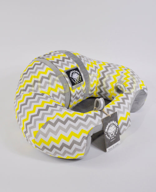 Infant Sitting Chair - Yellow Chevron