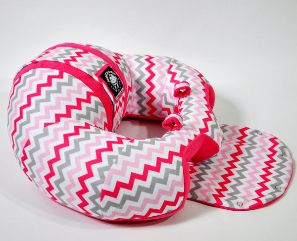 Infant Sitting Chair - Pink Chevron