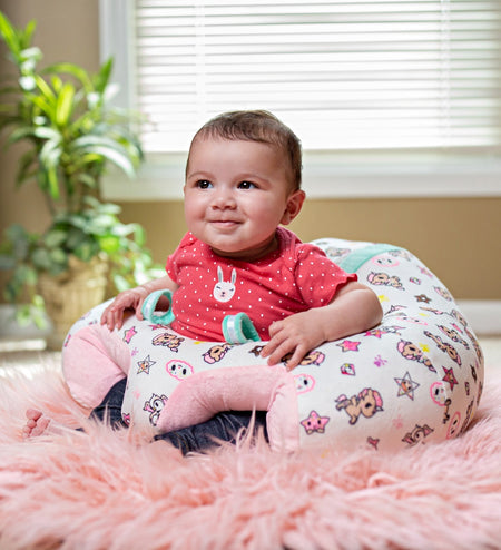 Infant Sitting Chair - Pink Snow Leopard