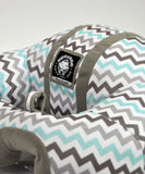 Infant Sitting Chair - Blue Chevron