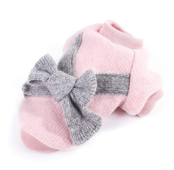 Bowknot Back Knitted Sweater - Dogs and Cats Boutique